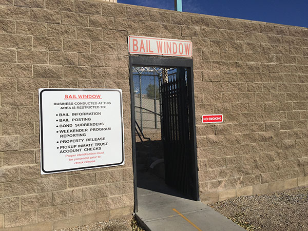 City Jail in Las Vegas Bail Window